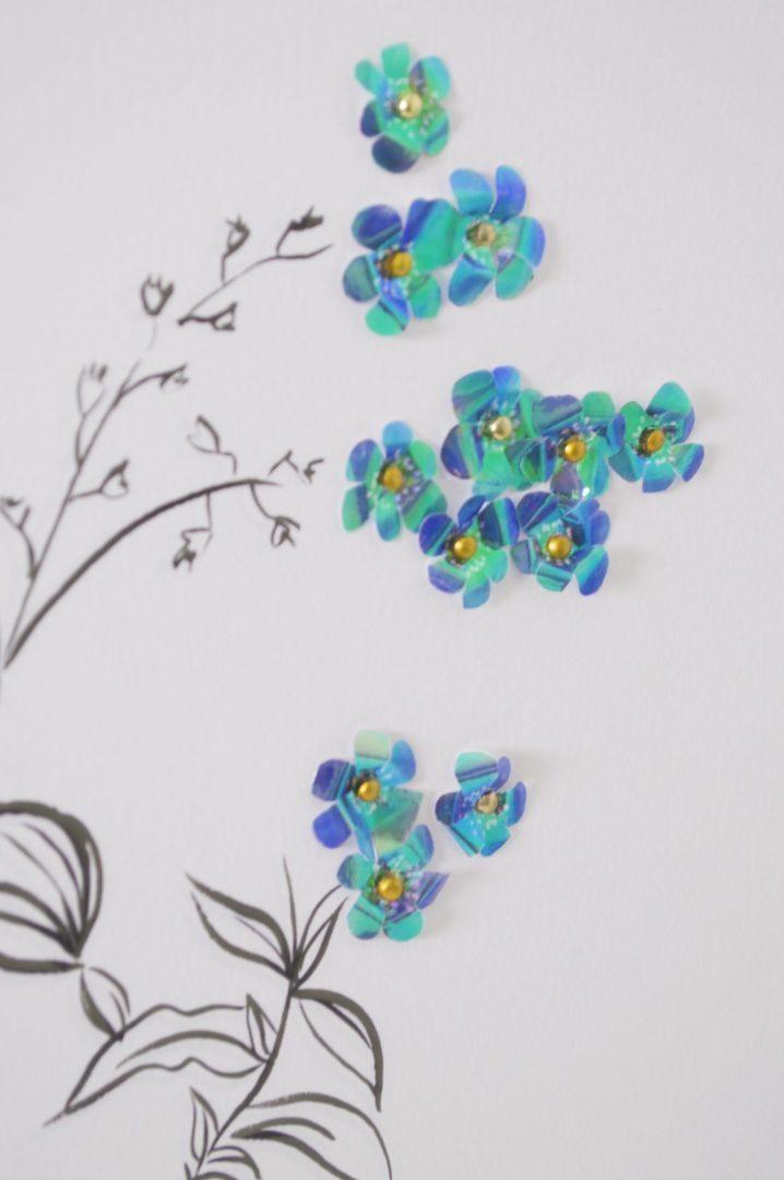 fleur bleue zoom