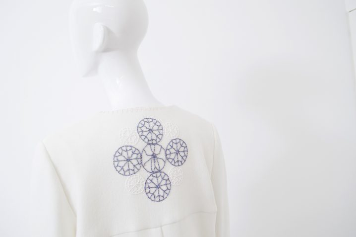 manteau blanc bord rose 4