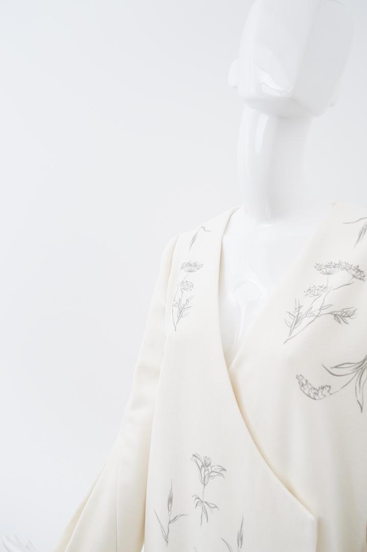 manteau blanc cassé fleurs 5