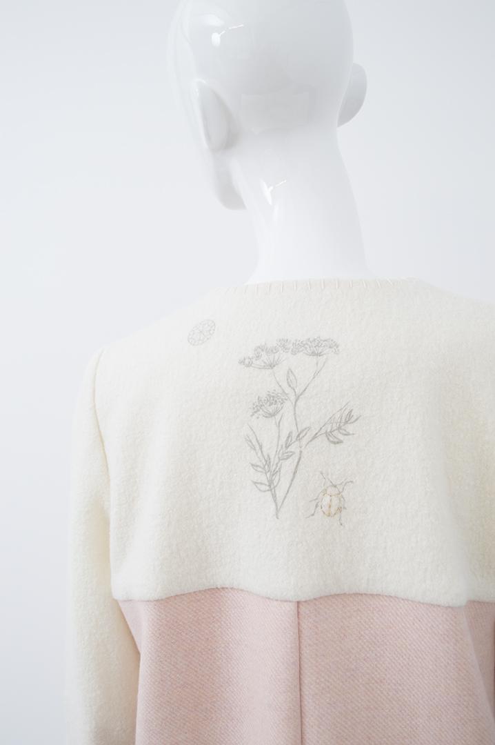 manteau blanc et rose 1