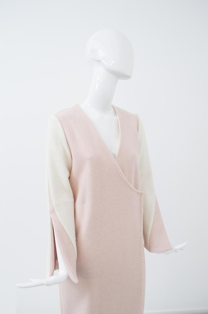 manteau blanc et rose 2