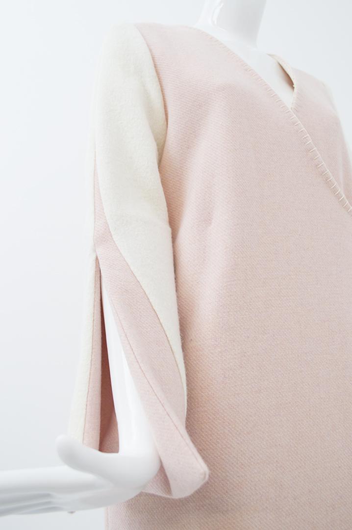 manteau blanc et rose 3