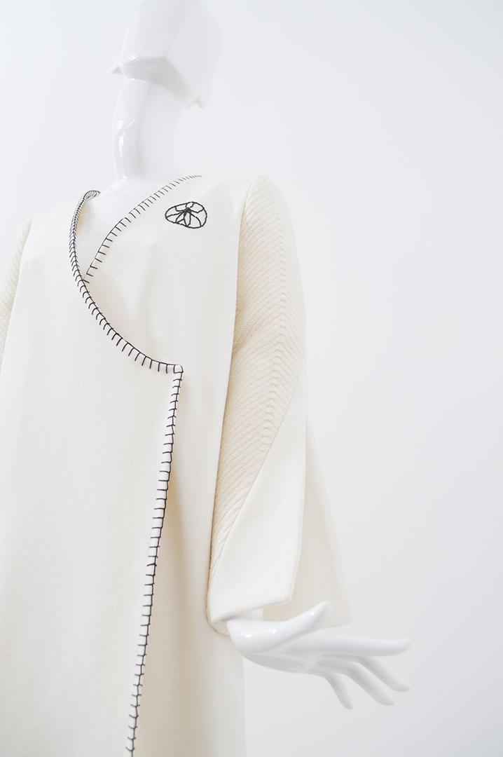 manteau blanc tramé 2