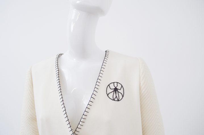 manteau blanc tramé 3