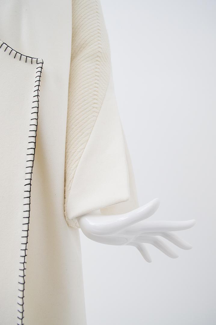 manteau blanc tramé 4
