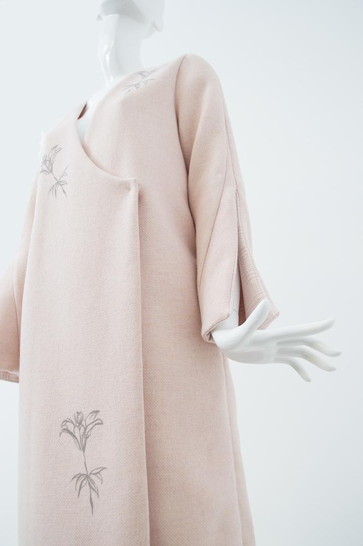 manteau rose quadrillé 2