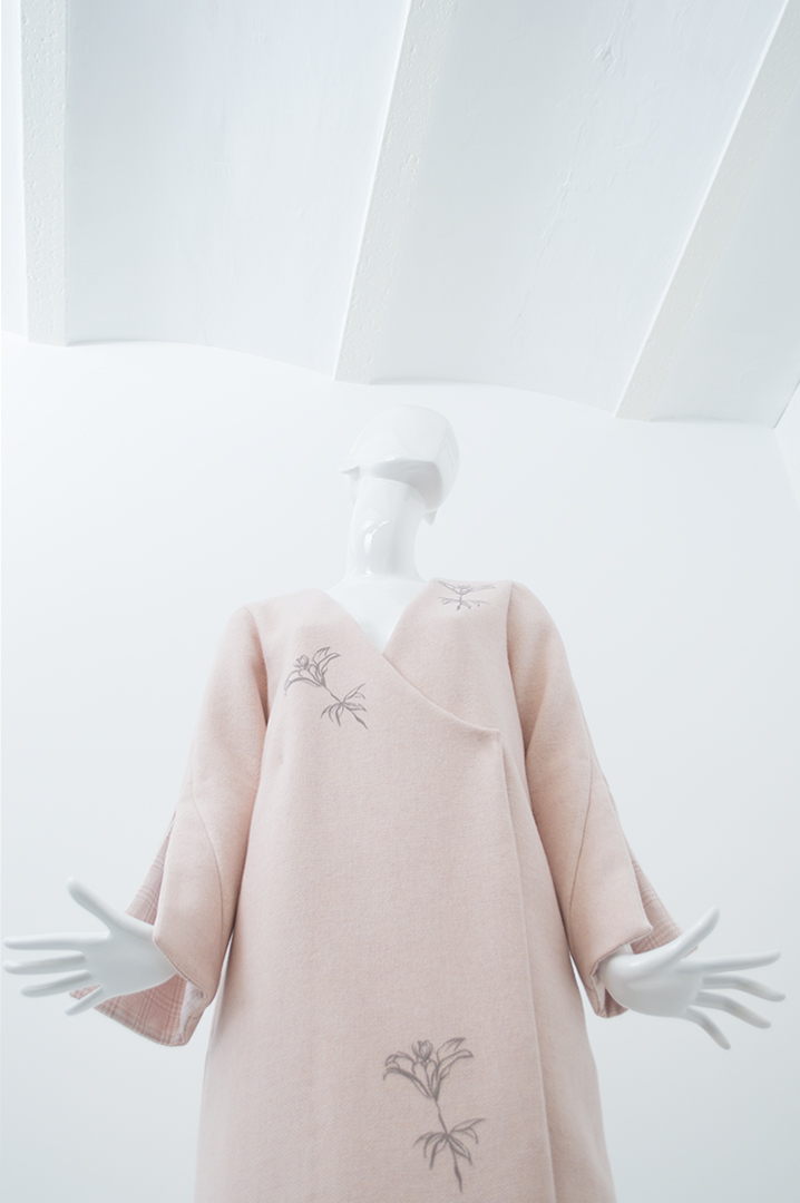manteau rose quadrillé 3